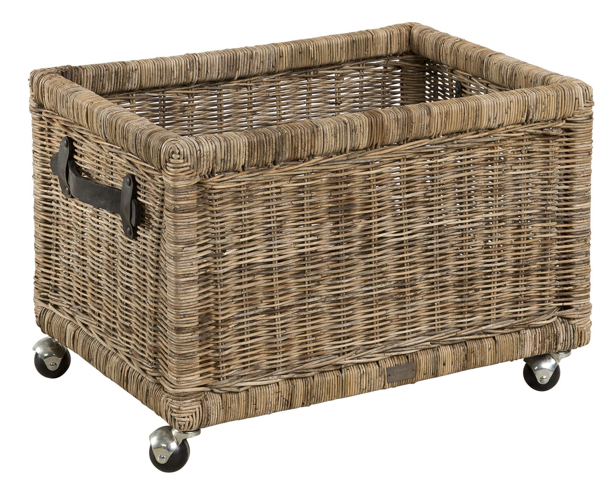 Storage Basket With Castors Artwood