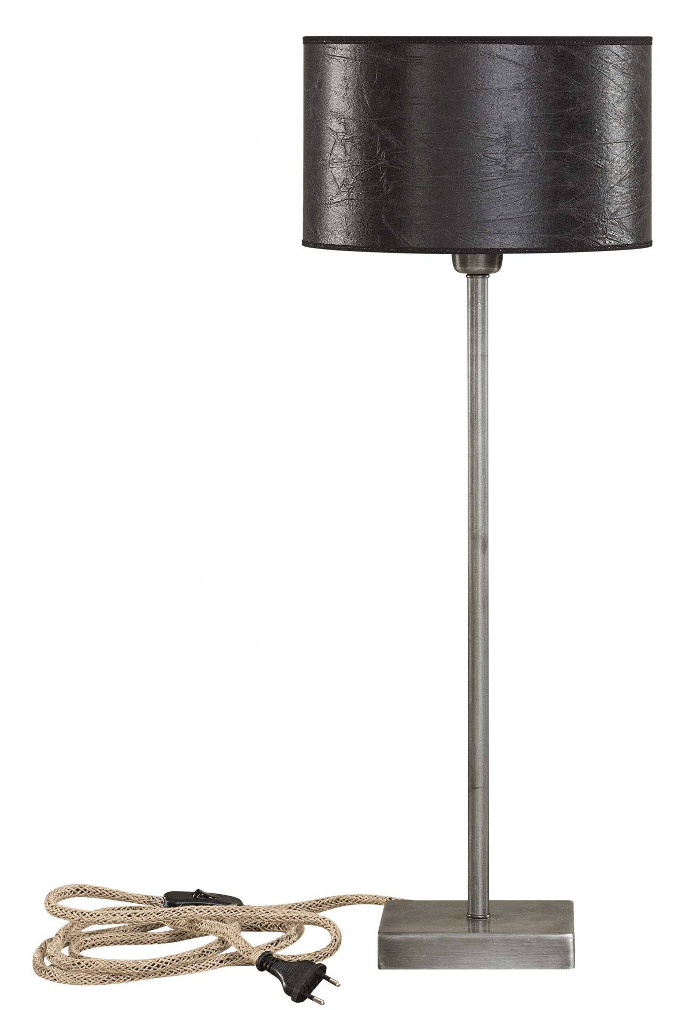 Pewter Low Table Lamp Base